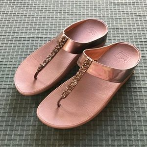b2d1f5d8e Fitflop Shoes - Fitflop Fino crystal toe-thong sandals